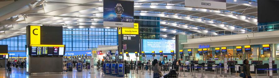 Airport terminal lighting