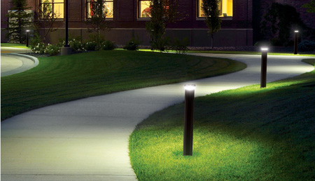 Outdoor lighting for school pathways
