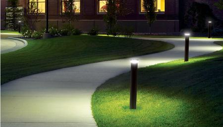 Outdoor lighting for school pathways