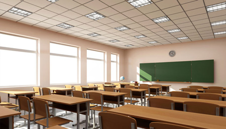 Classroom lighting for schools
