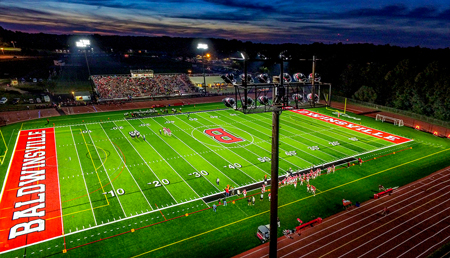 School lighting for football field