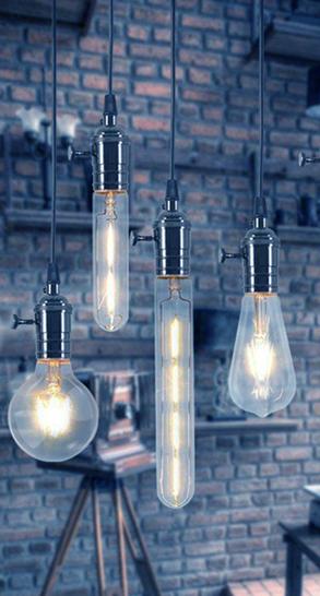 Unique hanging light bulbs